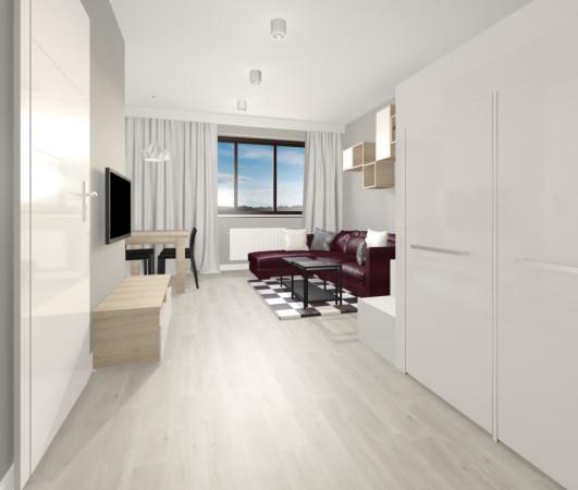 Nie we wszystkich wnętrzach możliwe jest wyodrębnienie osobnego pomieszczenia na garderobę. W mniejszych przestrzeniach warto zdecydować się na szafę, która będzie spełniała funkcje garderoby i szafy gospodarczej.