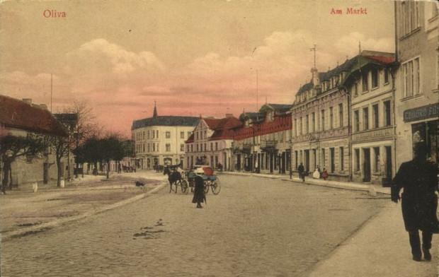 Ul. Stary Rynek Oliwski ok. roku 1900.