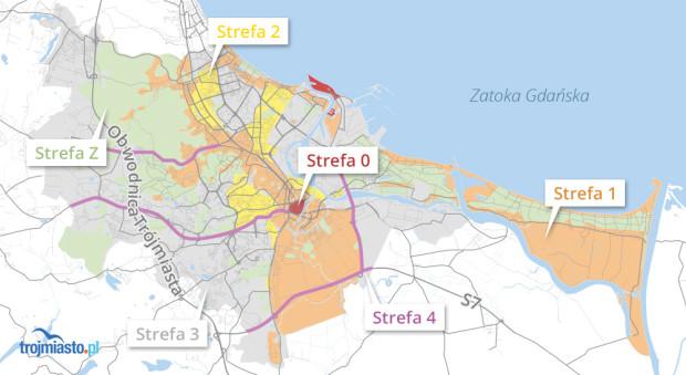 Podział miasta na strefy reklamowe.
