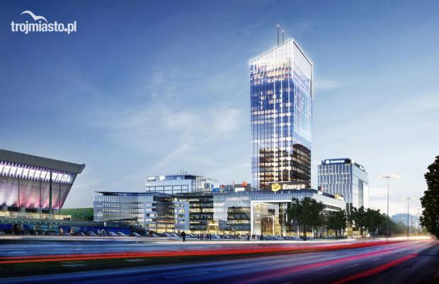 Tak będzie wyglądał biurowiec Olivia Star - najwyższy budynek w Trójmieście, którego wysokość do dachu wyniesie 156 m, a wraz z masztami - 180 m.