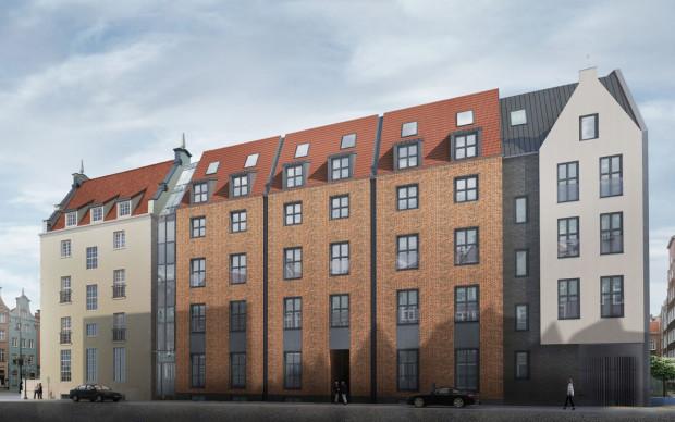 Jedna z pięciu propozycji wyglądu fasady od strony ul. Mieszczańskiej (projekt nr 1).