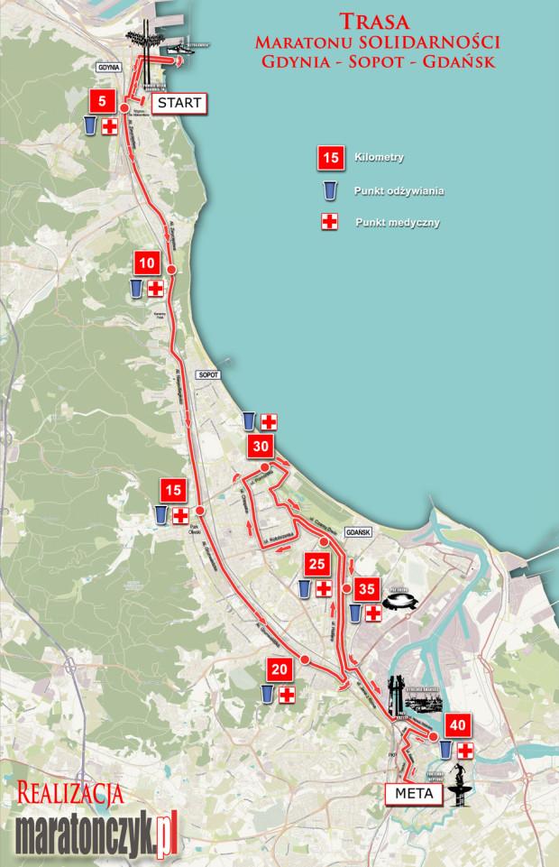 Trasa 22. Energa Maratonu Solidarności