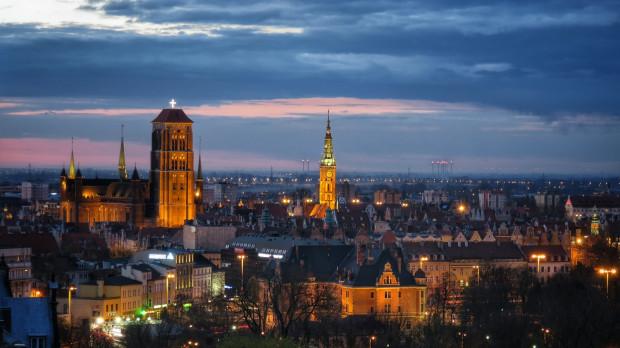 Widok z Góry Gradowej na Śródmieście Gdańska.