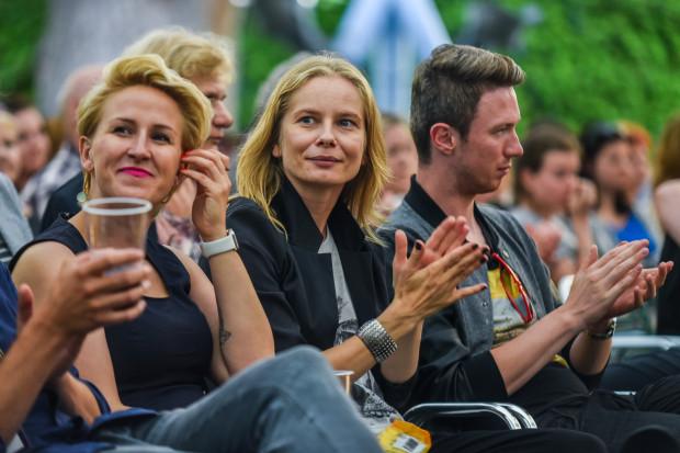 Magdalena Cielecka podczas Koncertu Muzyki Filmowej.