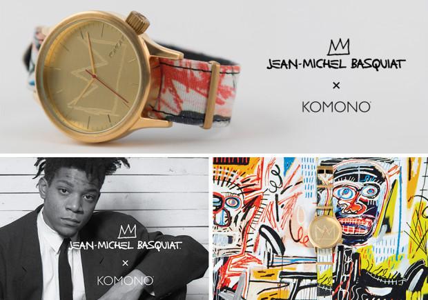 Zegarek Komono - kolekcja dedykowana brooklińskiemu artyście (przyjacielowi Andy Warhola) Jean-Michaelowi Basquiatowi.