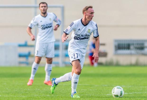 Adam Marciniak otworzył wynik meczu Pucharu Polski Rominta - Arka.