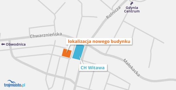 Miejsce, gdzie planowany jest nowy budynek.