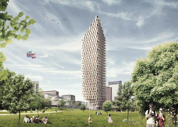 Projekt apartamentowca w Sztokholmie, C. F. Moller.