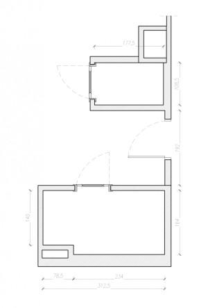 Wymiary i układ pomieszczeń.
