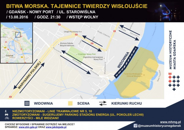 Mapka dojazdu na teren imprezy.