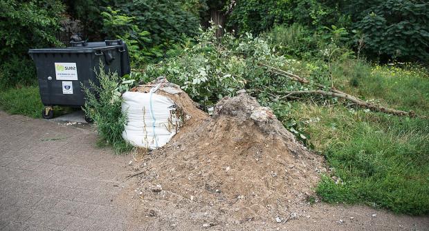A przez zaniedbaną zieleń mieszkańcy pozwalają sobie na więcej, wyrzucając odpady.