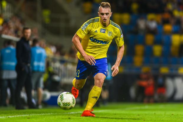Marcin Warcholak w I lidze był mocnym punktem Arki Gdynia i tak też jest w ekstraklasie, choć lewy obrońca na tym szczeblu rozgrywek dopiero w tym roku zadebiutował.