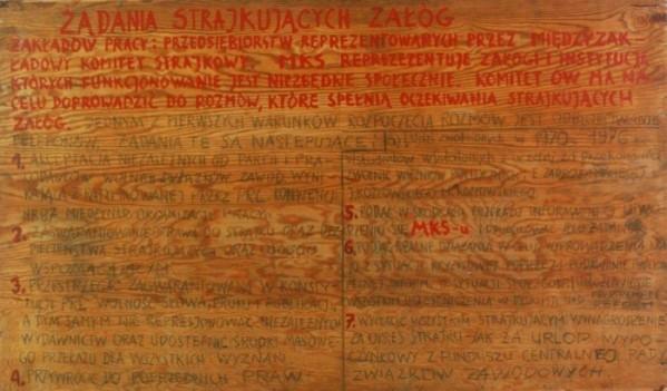 31 sierpnia 1980 r. podpisano porozumienie, które kończyło trwający od 14 sierpnia strajk na Wybrzeżu.