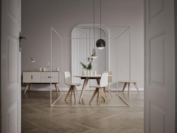Lampa nad stołem w nowej odsłonie - minimalistycznie i w liczbie mnogiej (Bolia, Tila.pl).