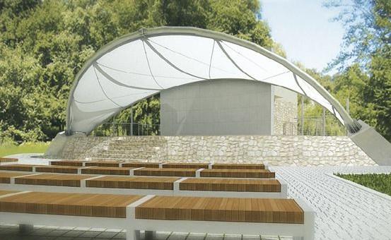 W parku powstanie m.in. amfiteatr, w którym można będzie organizować koncerty.