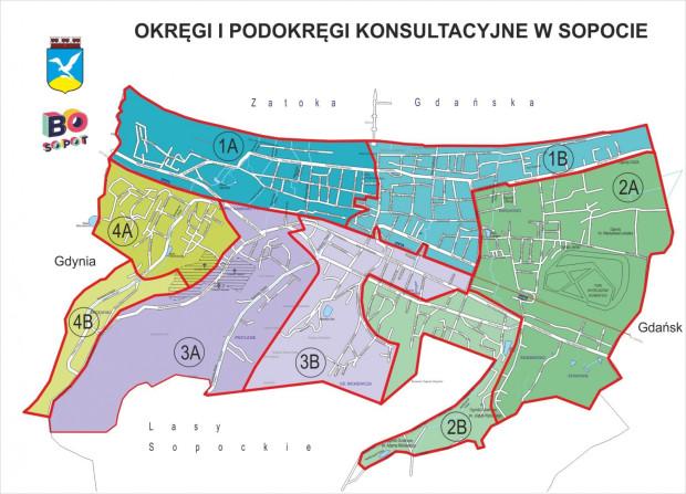 W tym roku w Sopocie głosowanie dotyczy inwestycji ogólnomiejskich, a także lokalnych - w czterech okręgach i aż ośmiu podokręgach.