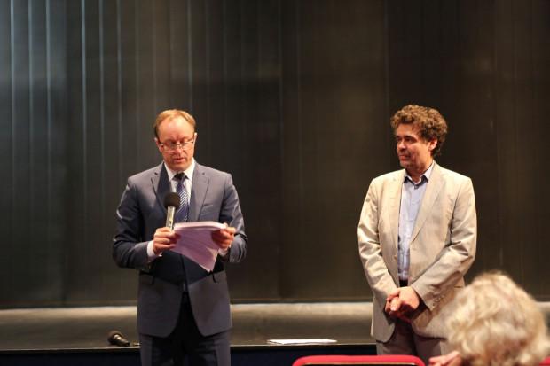 Warcisław Kunc (po prawej) oficjalnie otrzymał nominację na stanowisko dyrektora Opery Bałtyckiej 1 września 2016 roku.