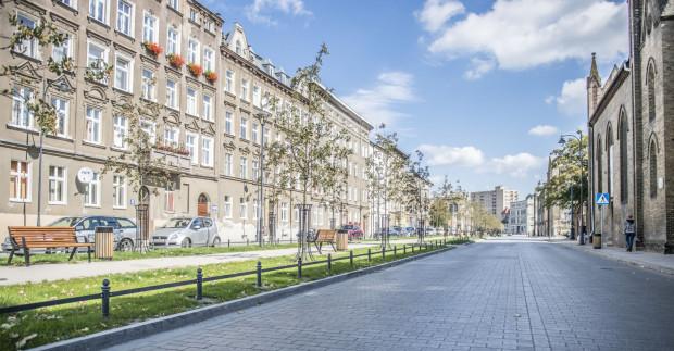 Tak wygląda nowa nawierzchnia zaniedbanych dotąd ulic na Dolnym Mieście.