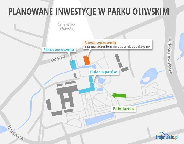 W listopadzie zakładano powyższe inwestycje w Parku Oliwskim.