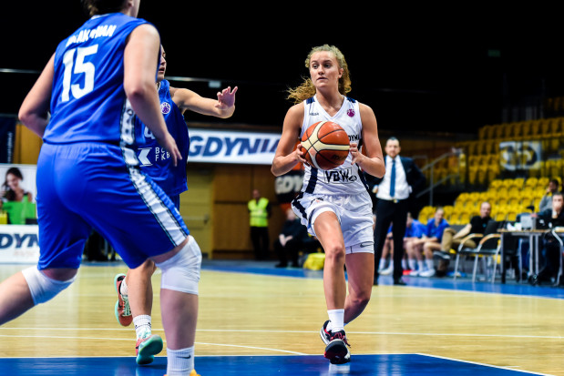 Kamila Podgórna trafiła w środę m.in. cztery rzuty za trzy punkty, w tym jakże ważny, w ostatniej minucie meczu.