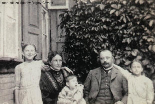 Walter i Julia Domnick wraz z dziećmi. Pierwsza od lewej to Lucie, dalej Walter i Ela. Zdjęcie wykonano w 1916 r.