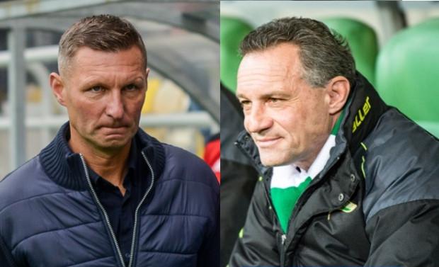 Trenerzy Grzegorz Niciński (z lewej) i Piotr Nowak (z prawej) po niedzielnych derbach mają pełne prawo mieć mieszane nastroje. Drużyny szkoleniowców podzieliły się punktami, ale z przebiegu meczu, mógł paść każdy wynik.