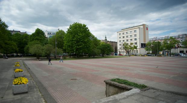 Plac Grunwaldzki przed budową Gdyńskiej Szkoły Filmowej.