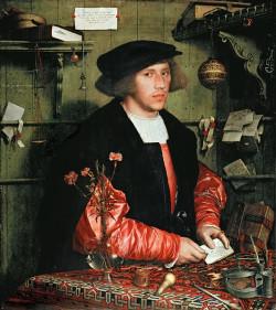 """""""Portret kupca Georga Giesego"""" namalowany przez Hansa Holbeina młodszego z 1532 r."""