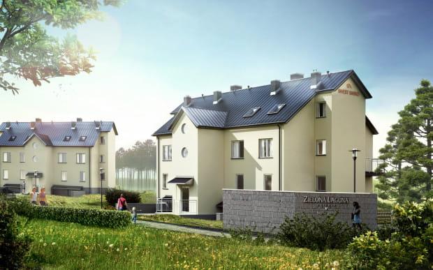 Budynki podzielone są na dwa sposoby: w pierwszym typie są mieszkania na parterze, a powyżej lokale dwupoziomowe. W drugim typie budynki podzielone są na cztery trzykondygnacyjne segmenty.