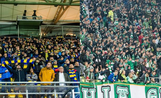 Ekstraklasa może ustanawiać kolejne rekordy frekwencji, gdyż kibice w tym sezonie mogą oglądać jej mecze na 2 stadionach w Trójmieście. Lechia Gdańsk (z prawej) ma 2., a Arka Gdynia (z lewej) 6. średnią widownię po 1. rundzie rozgrywek.