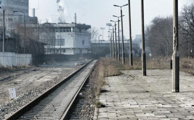 Istniejący jeszcze przystanek kolejowy Gdynia Oksywie Port.