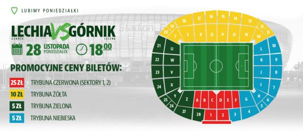 Promocyjne ceny biletów na mecz Lechia Gdańsk - Górnik Łęczna.
