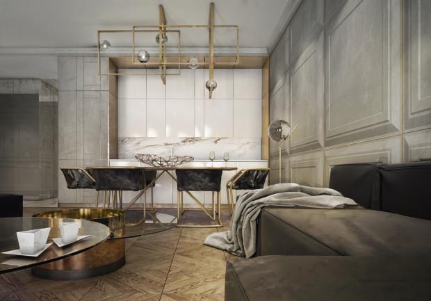 Gdański apartament zaprojektowany przez pracownię Ideograf w duchu nowoczesnej klasyki.