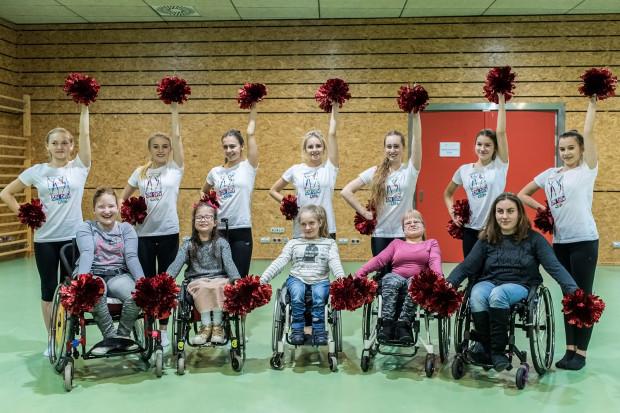 Cheerleaders Flex Pomorze w Orlando wystąpią wspólnie z pełnosprawnymi koleżankami z Galaxy Team MDK Gdynia.