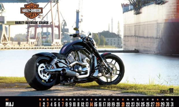 Kartka z gdańskiego, charytatywnego kalendarza Harley Davidson.