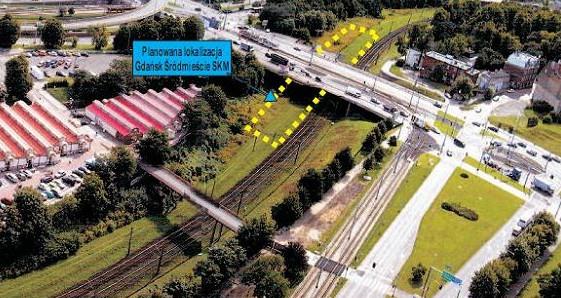 Przystanek SKM Gdańsk-Śródmieście powstanie pod wiaduktem w ciągu al. Armii Krajowej.
