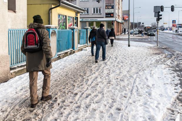 Spacer po Gdyni to nic przyjemnego po ostatnim ataku zimy.