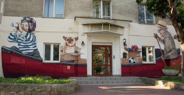 Mural na ul. Zakopiańskiej zamówili od artysty mieszkańcy.