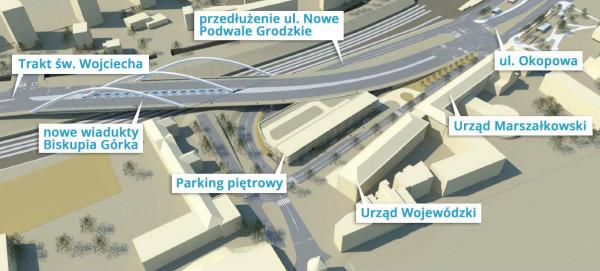 W ramach inwestycji istniejąca konstrukcja miała być zastąpiona jezdniami na dwóch nowych wiaduktach.