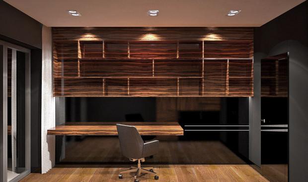 Ciemne kolory nadają wnętrzom klasy i elegancji. Wyraźnie zaznaczone słoje wydobędą charakter pomieszczenia.