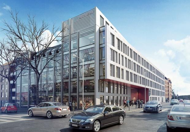 Tak będzie wyglądał nowy biurowiec w Garnizonie, który powstanie u zbiegu ulic Chrzanowskiego i Szymanowskiego we Wrzeszczu.