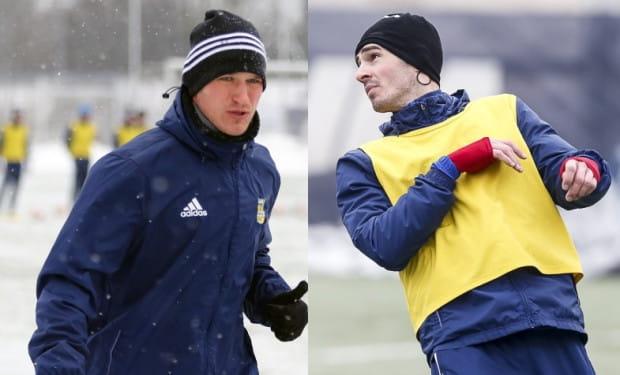 Przemysław Trytko (z lewej) strzelił Legii gola w poprzednim sezonie. Josip Barisić (z prawej) zaliczył w spotkaniu z tym rywalem asystę.