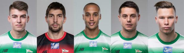 Piłkarze, którzy zimą dołączyli do pierwszej drużyny Lechii Gdańsk (od prawej): Michał Mak, Ariel Borysiuk, Gino van Kessel, Dusan Kuciak, Karol Fila.