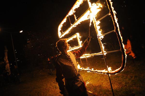 Obok Fety najbardziej znaną imprezą klubu Plama GAK są Obrazy Ogniem Malowane (na zdjęciu).