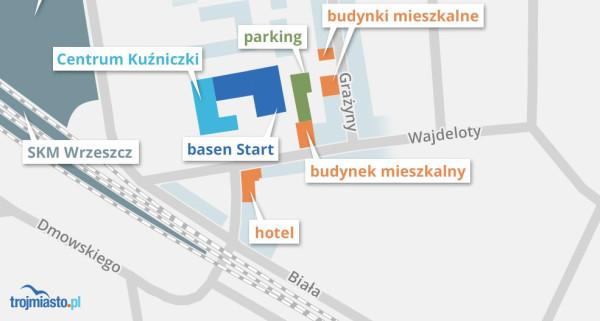 Miejsce basenu Start może wkrótce zająć nowe osiedle, zaś zamiast hotelu domykającego zabudowę urbaniści proponują miejski skwer.