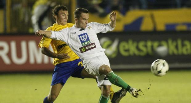 Mecz Lechia - Arka z 2009 roku. Marcin Kaczmarek i Wojciech Wilczyński mają również szanse na grę w niedzielę.
