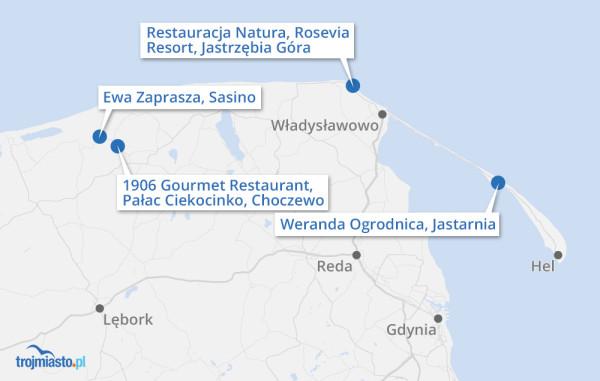Mapka regionu z rekomendowanymi przez nas lokalami