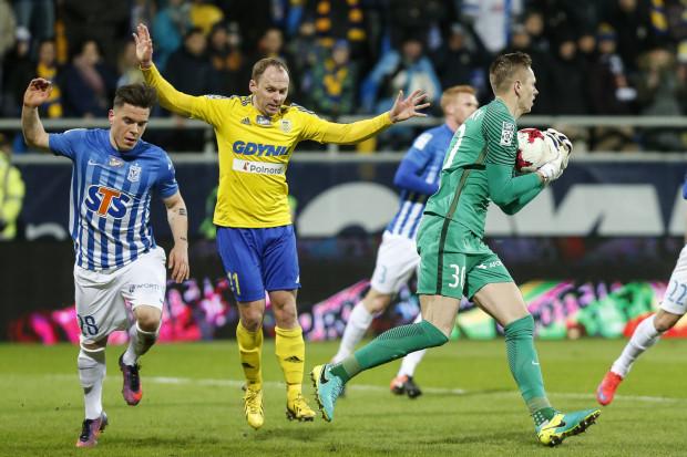 Rafał Siemaszko (nr 11) jako pierwszy w tym roku strzelił gola Lechowi Poznań w oficjalnym meczu. Matus Putnocky (30) był niepokonany przez 548 minut.