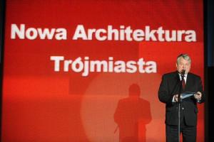 - Cieszę się, że nadszedł czas, gdy można nagradzać tych, którzy budują - mówił marszałek senatu Bogdan Borusewicz, który wręczał nagrodę w kategorii Nowa Architektura Trójmiasta.