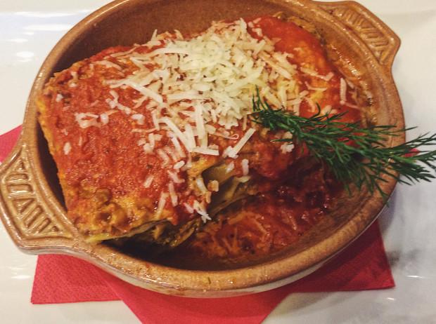 Lasagne w Perche No - przyzwoite, ale nie porywa.